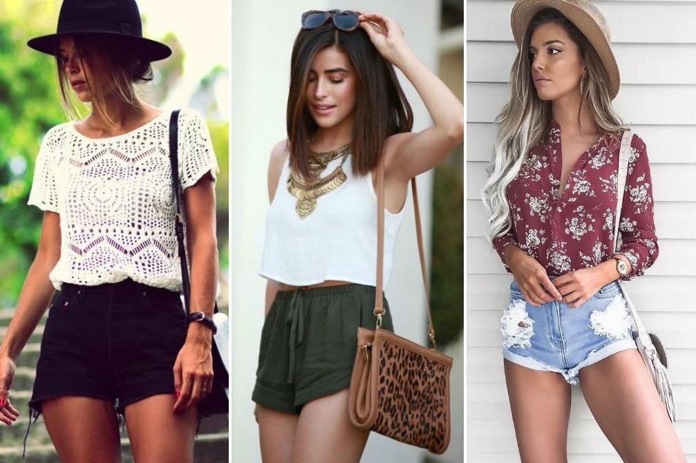 Летом в моде шорты и комбинации
