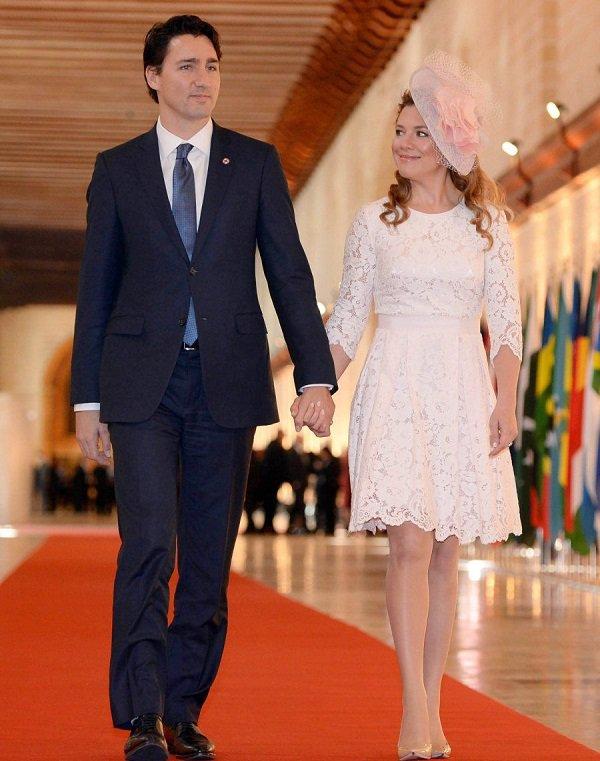Софи Грегуар и Джастин Трюдо