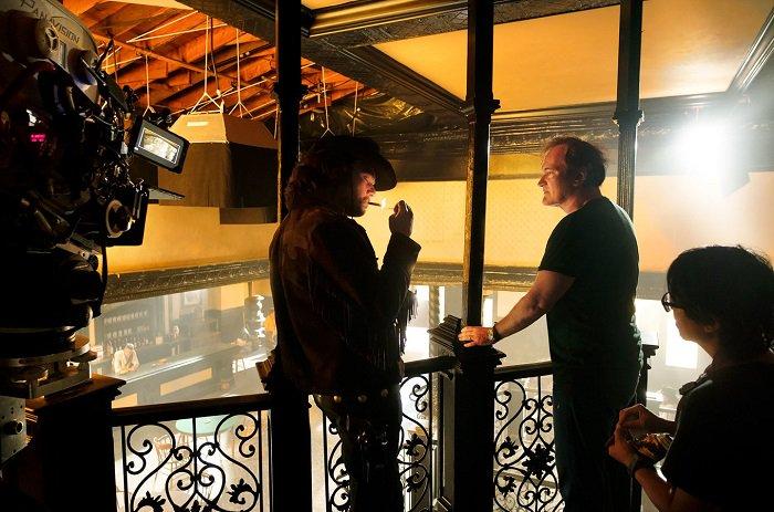 Появились кадры со съемок нового фильма Квентина Тарантино